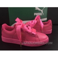 Puma Suede Basket Heart Satin Pink Discount