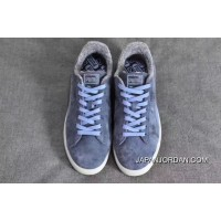 Puma Suede Classic Elemental Women Men Shoes Fur Leather Blue Lastest