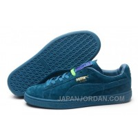 Puma Rihanna Suede Creepers 1608 Women Men All Blue