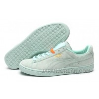 Puma Rihanna Suede Creepers 1608 Women Men Light Green