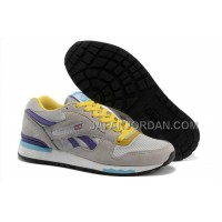 オンライン Reebok GL6000 Mens Classic Running Grey Yellow Purple