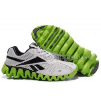 送料無料 Reebok Zig FUEL Mens White Green Black