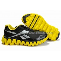 新着 Reebok ZigTech Mens Black Yellow Silver