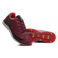 Salomon Kalalau Mens Crimson Black Maroon 本物の