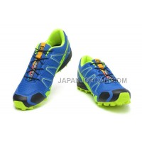 ホット販売 Salomon S-Lab Fellcross 2 Mens Blue GreenYellow