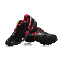Salomon Speedcross 3 CS Mens Black Maroon 本物の