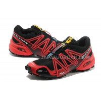 Salomon Speedcross 3 CS Mens Black Red 本物の