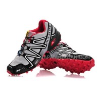 ホット販売 Salomon Speedcross 3 CS Mens Gray Black Maroon