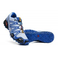 ホット販売 Salomon Speedcross 3 CS Mens White Blue