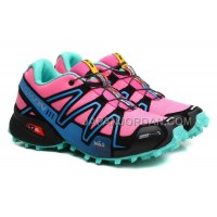 ホット販売 Salomon Speedcross 3 CS Womens Pink Black Turquoise