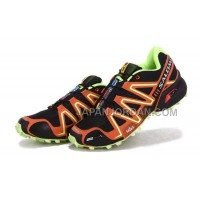 Salomon Speedcross 3 Mens Black Orange GreenYellow 本物の