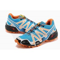 Salomon Speedcross 3 Mens Cyan Orange Black 本物の