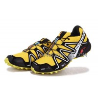 Salomon Speedcross 3 Mens Yellow Silver Black 本物の