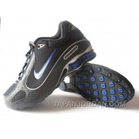 Men's Nike Shox Monster Shoes Black/Blue/Silver Free Shipping