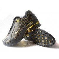 Men's Nike Shox Monster Shoes Black/Gold Online