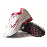 Men's Nike Shox Monster Shoes White/Red/Grey Discount