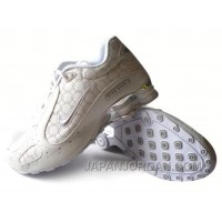 Men's Nike Shox Monster Shoes White/Silver Top Deals