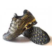 Men's Nike Shox NZ Carpenterworm Shoes Black/Yellow/Gold Cheap To Buy