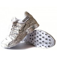 Men's Nike Shox NZ Carpenterworm Shoes White/Black/Offwhite/Silver Authentic