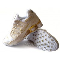 Men's Nike Shox NZ Carpenterworm Shoes White/Yellow/Gold New Release