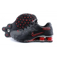 Men's Nike Shox NZ Shoes Black/Brilliant Red/Grey Super Deals