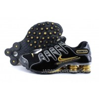 Men's Nike Shox NZ Shoes Black/Gold/Grey Discount