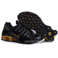 Men's Nike Shox NZ Shoes Black/Gold/Yellow Top Deals