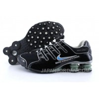 Men's Nike Shox NZ Shoes Black/Grey/Light Blue Super Deals
