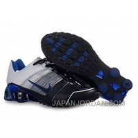 Men's Nike Shox NZ Shoes Black/Grey/Silver/White/Blue Discount