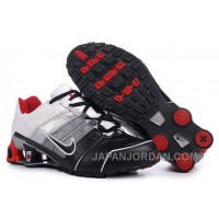 Men's Nike Shox NZ Shoes Black/Grey/Silver/White/Red Online