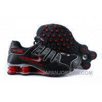 Men's Nike Shox NZ Shoes Black/Red/Grey For Sale 344224