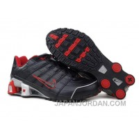 Men's Nike Shox NZ Shoes Black/Red/Grey For Sale