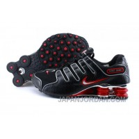 Men's Nike Shox NZ Shoes Black/Red/Silver Free Shipping