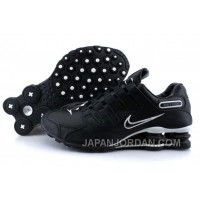 Men's Nike Shox NZ Shoes Black/Silver Discount 344228
