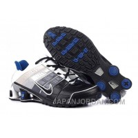 Men's Nike Shox NZ Shoes Black/Silver/Grey/White Free Shipping