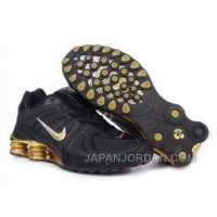 Men's Nike Shox OZ Shoes Black/Gold Super Deals