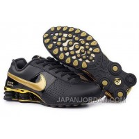 Men's Nike Shox OZ Shoes Black/Gold Cheap To Buy