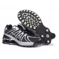 Men's Nike Shox OZ Shoes Black/Grey/Silver Online