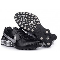 Men's Nike Shox OZ Shoes Black/Silver Super Deals