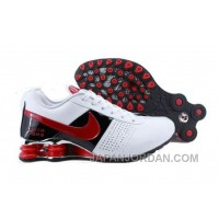 Men's Nike Shox OZ Shoes White/Black/Red Super Deals