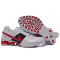 Men's Nike Shox OZ Shoes White/Black/Red/Silver Free Shipping