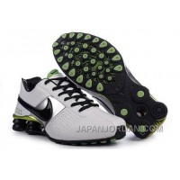 Men's Nike Shox OZ Shoes White/Black/Silver/Green New Release