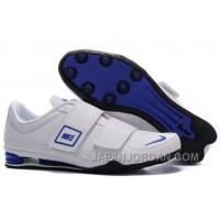 Men's Nike Shox R3 Shoes White/Blue/Black For Sale