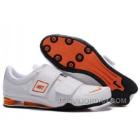 Men's Nike Shox R3 Shoes White/Orange/Black Cheap To Buy