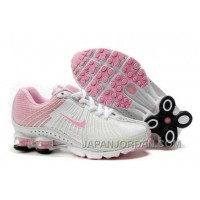 Kid's Nike Shox R4 Shoes White/Light Pink New Release