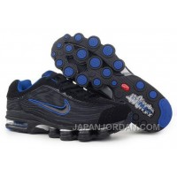 Men's Nike Air Max Shox R4 Shoes Black/Blue Cheap To Buy