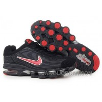 Men's Nike Air Max Shox R4 Shoes Black/Red Cheap To Buy