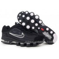 Men's Nike Air Max Shox R4 Shoes Black/White For Sale