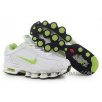 Men's Nike Air Max Shox R4 Shoes White/Light Green Cheap To Buy