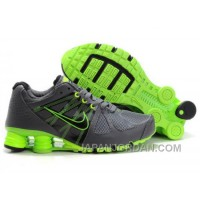 Men's Nike Airmax 2009 & Shox R4 Shoes Dark Grey/Brilliant Green New Release